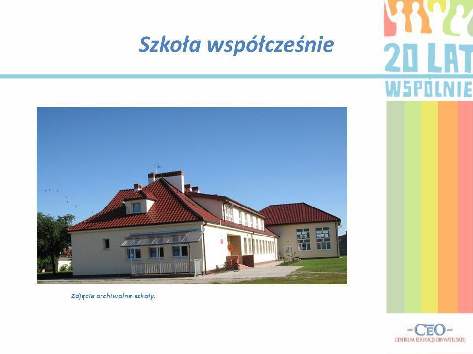 Prace nad zmianą wizerunku szkoły Szkoła w trakcie remontuSzkoła obecnie Zdjęcia archiwalne szkoły.