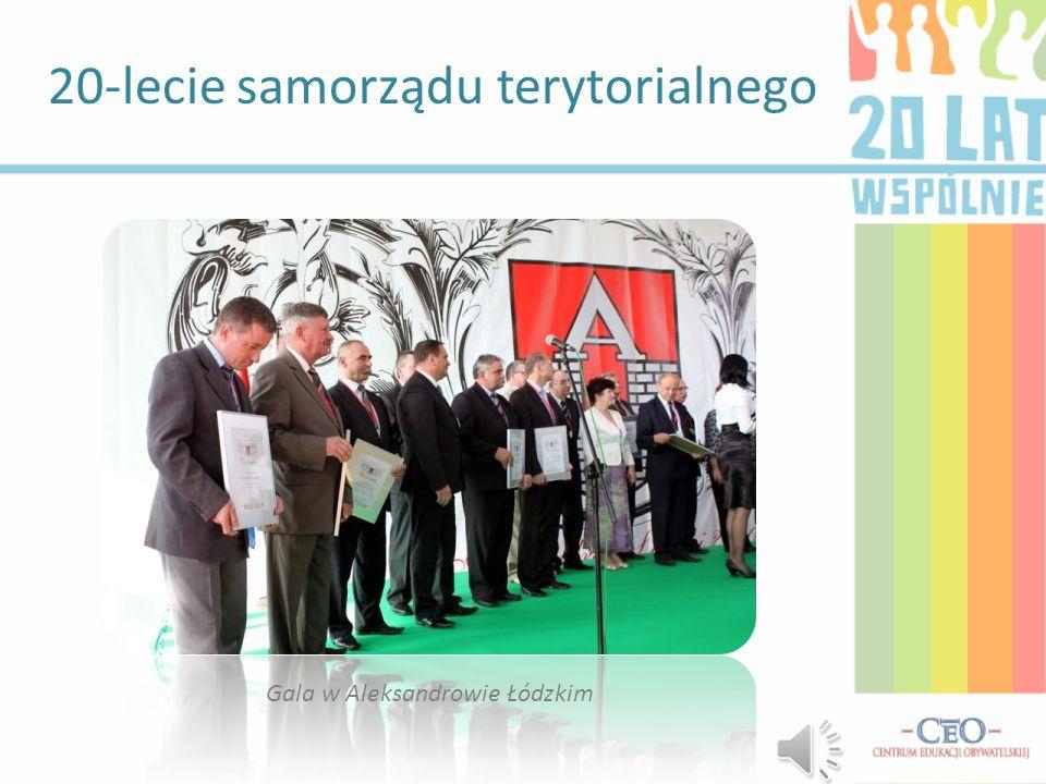 20-lecie samorządu terytorialnego Gala w Aleksandrowie Łódzkim