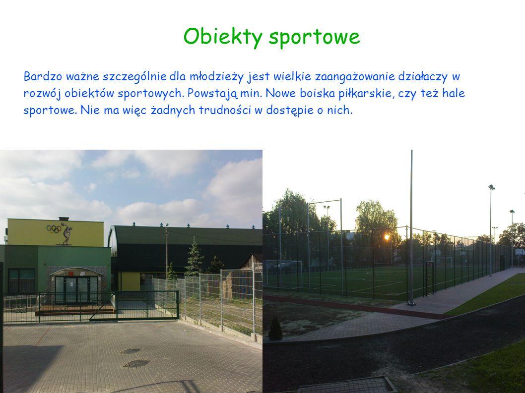Obiekty sportowe Bardzo ważne szczególnie dla młodzieży jest wielkie zaangażowanie działaczy w rozwój obiektów sportowych. Powstają min. Nowe boiska p