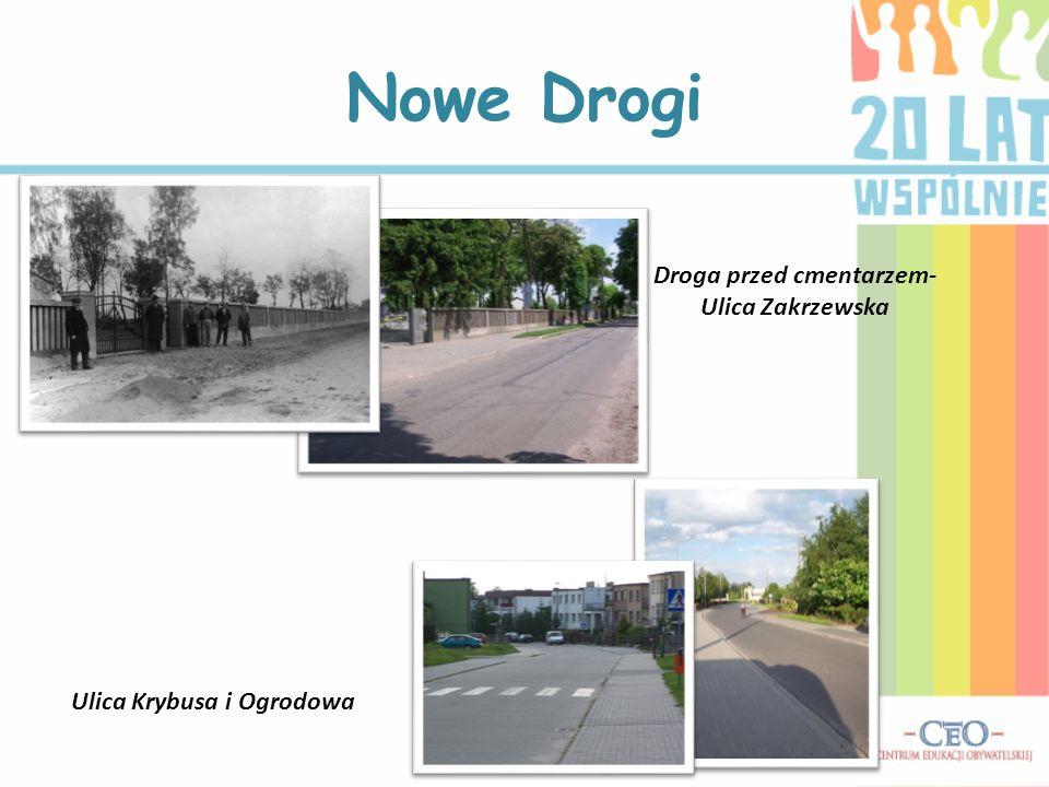 Nowe Drogi Droga przed cmentarzem- Ulica Zakrzewska Ulica Krybusa i Ogrodowa
