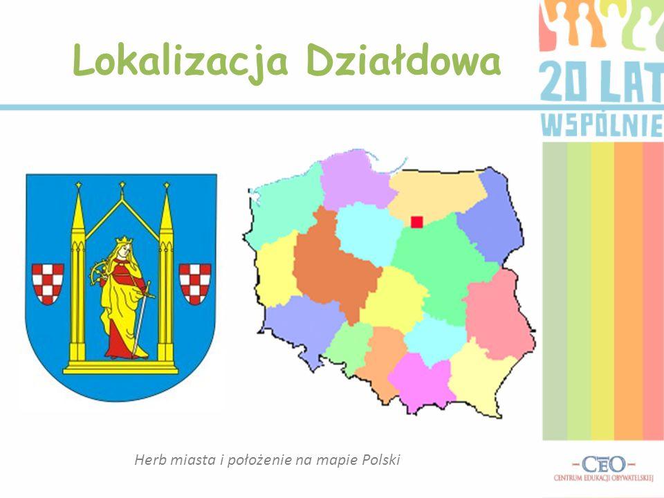 Herb miasta i położenie na mapie Polski Lokalizacja Działdowa