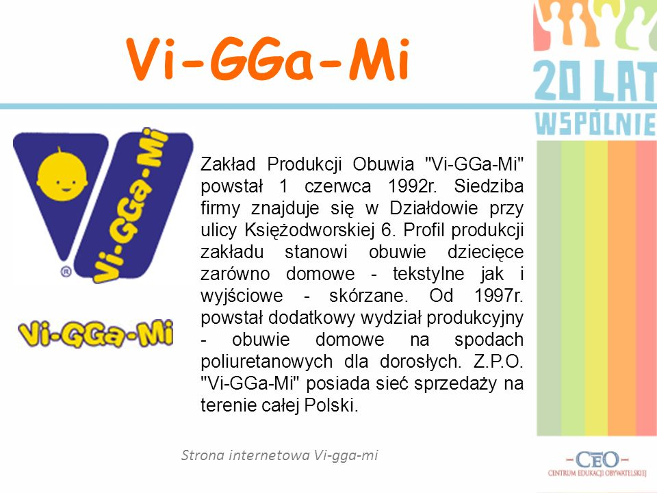 Strona internetowa Vi-gga-mi Vi-GGa-Mi Zakład Produkcji Obuwia