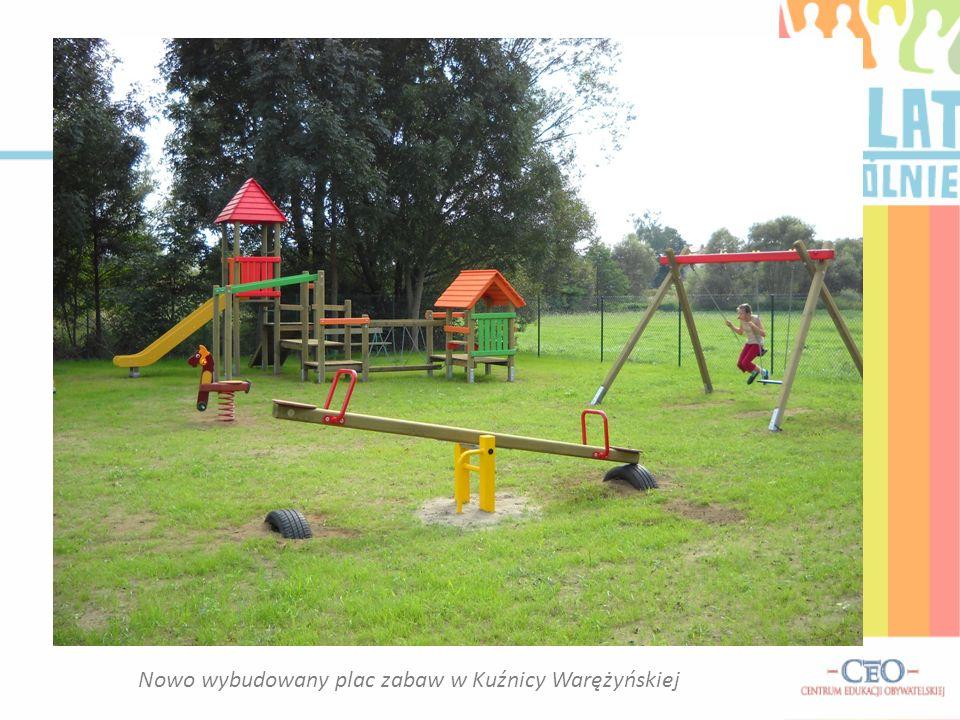 Nowo wybudowany plac zabaw w Kuźnicy Warężyńskiej