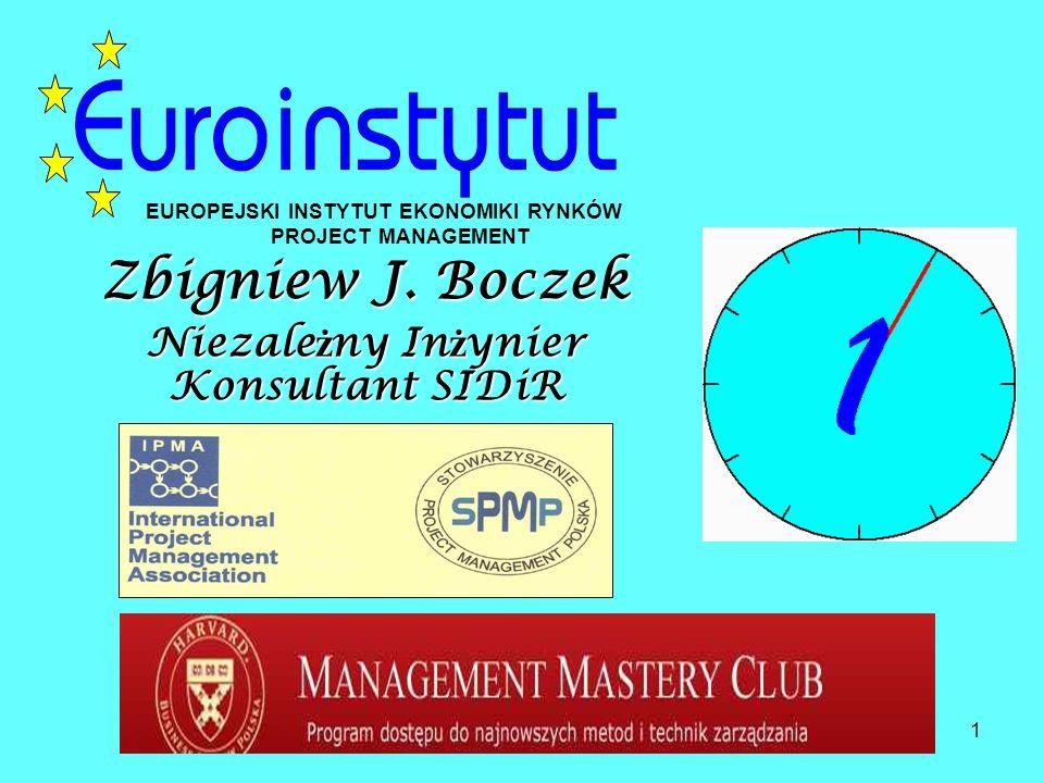 1 Zbigniew J. Boczek Niezale ż ny In ż ynier Konsultant SIDiR EUROPEJSKI INSTYTUT EKONOMIKI RYNKÓW PROJECT MANAGEMENT