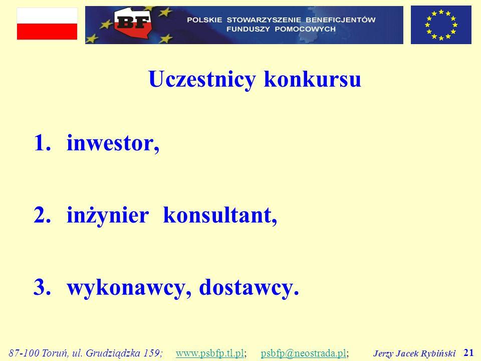 Jerzy Jacek Rybiński 21 87-100 Toruń, ul. Grudziądzka 159; www.psbfp.tl.pl; psbfp@neostrada.pl;www.psbfp.tl.plpsbfp@neostrada.pl Uczestnicy konkursu 1