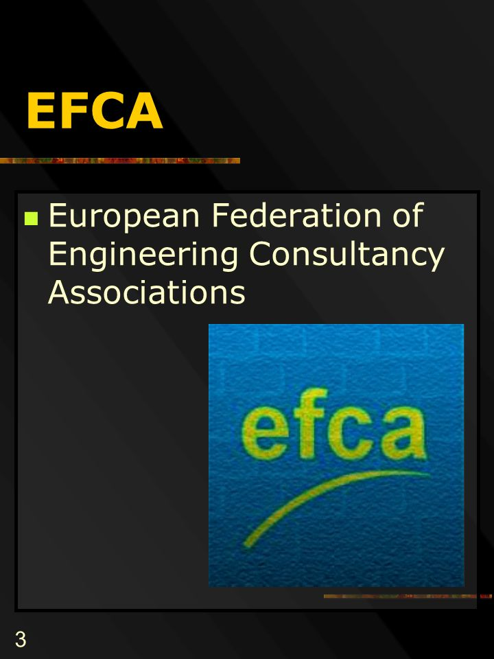 3 EFCA European Federation of Engineering Consultancy Associations