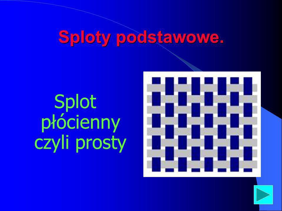 Rodzaje splotów. Splot podstawowy (zasadnicze) Splot pochodny Splot modyfikowany Splot zlozony Splot gazejski