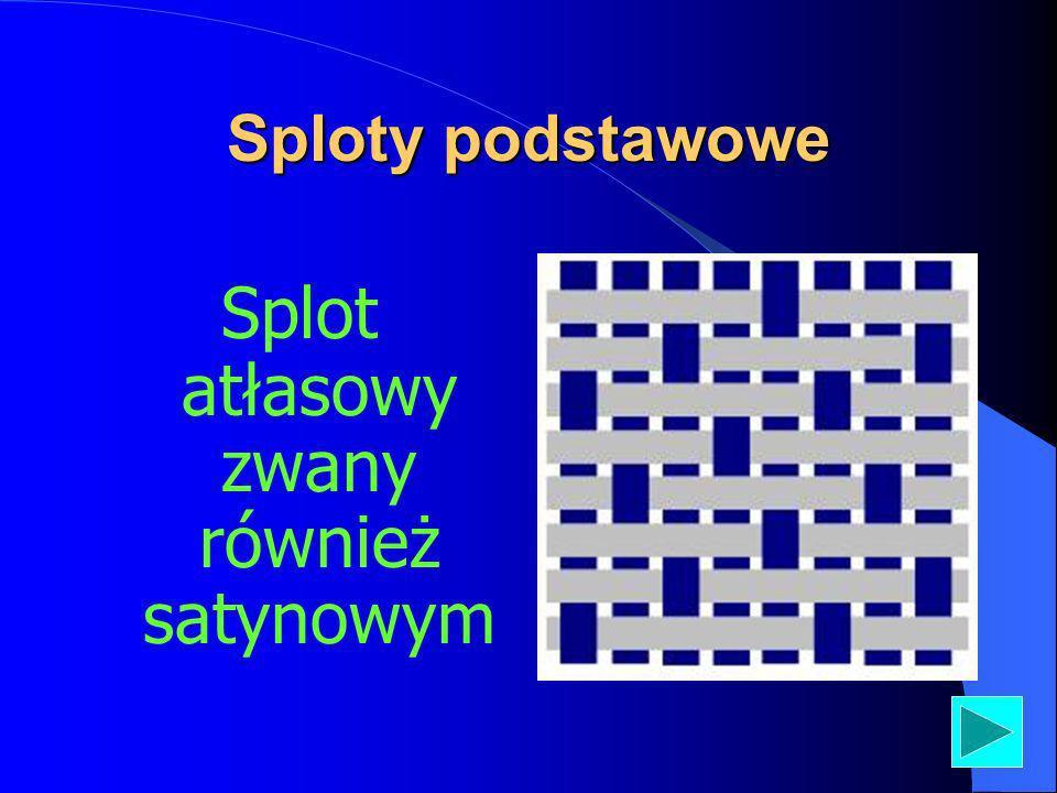 Sploty podstawowe Splot atłasowy zwany również satynowym