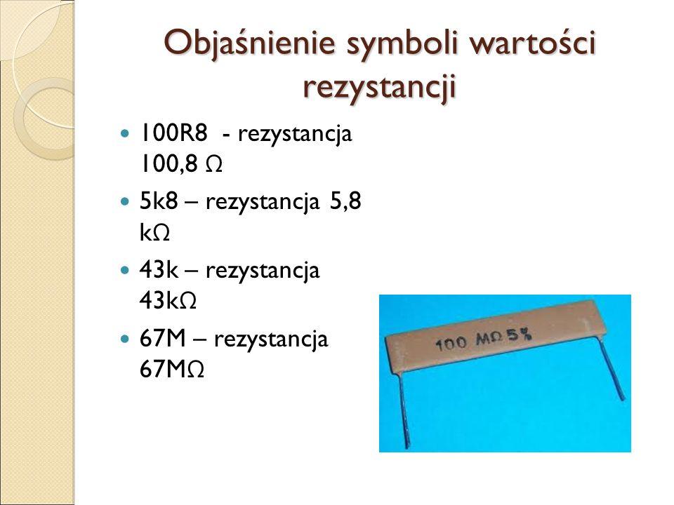 Symbole graficzne rezystora Potencjometry nazywane są również jako rezystory nastawne.