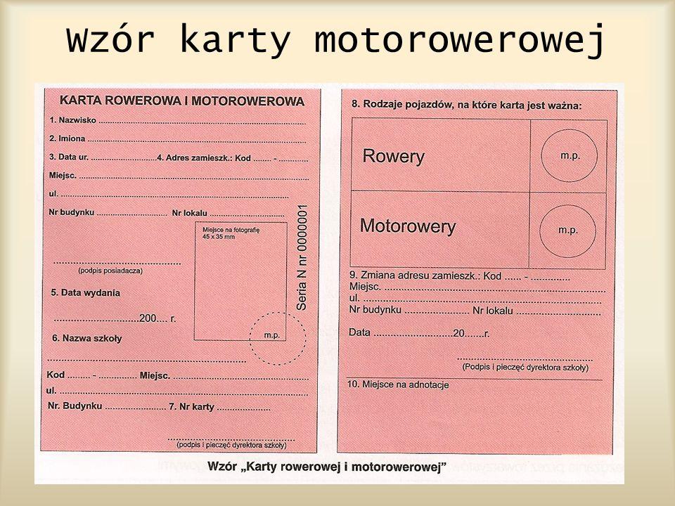 Wzór karty motorowerowej