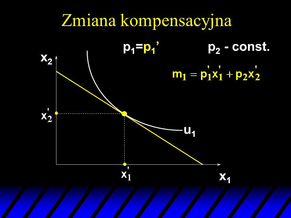 x2x2 x1x1 u1u1 p 1 =p 1 p 2 - const.