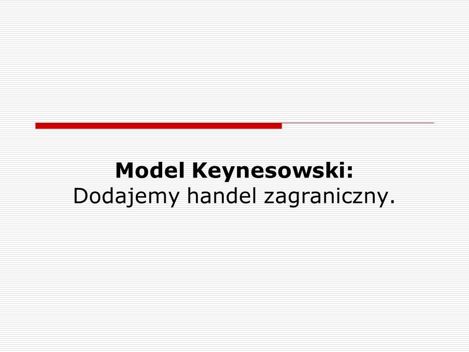 Model Keynesowski: Dodajemy handel zagraniczny.