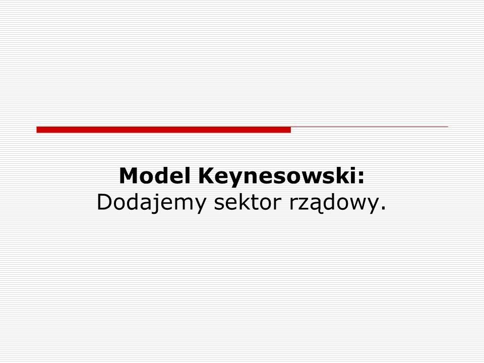 Model Keynesowski: Dodajemy sektor rządowy.