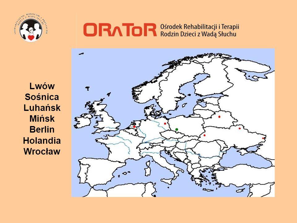 mapa Lwów Sośnica Luhańsk Mińsk Berlin Holandia Wrocław