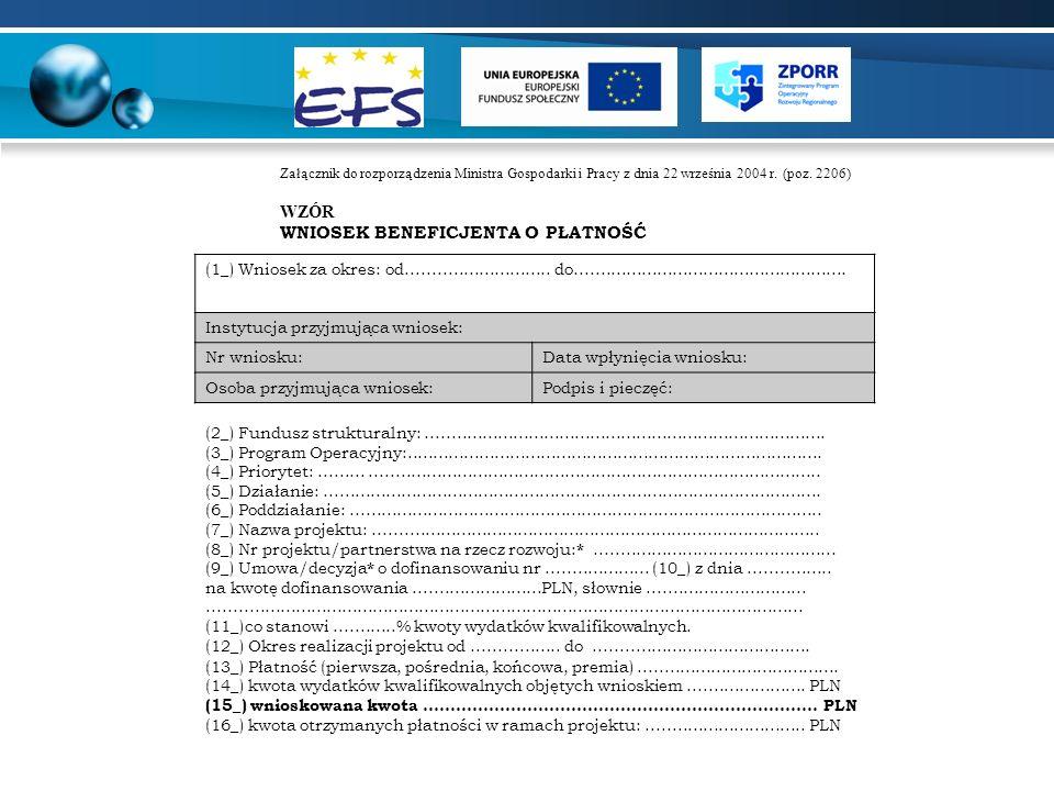 POTWIERDZENIE REALIZACJI PRAC Projekt jest współfinansowany ze środków Europejskiego Funduszu Społecznego oraz ze środków budżetu państwa miejscowość, dn.