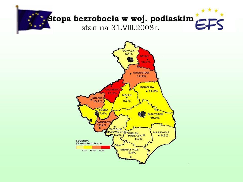 LICZBA BEZROBOTNYCH ogółem w latach 2004 – 2008