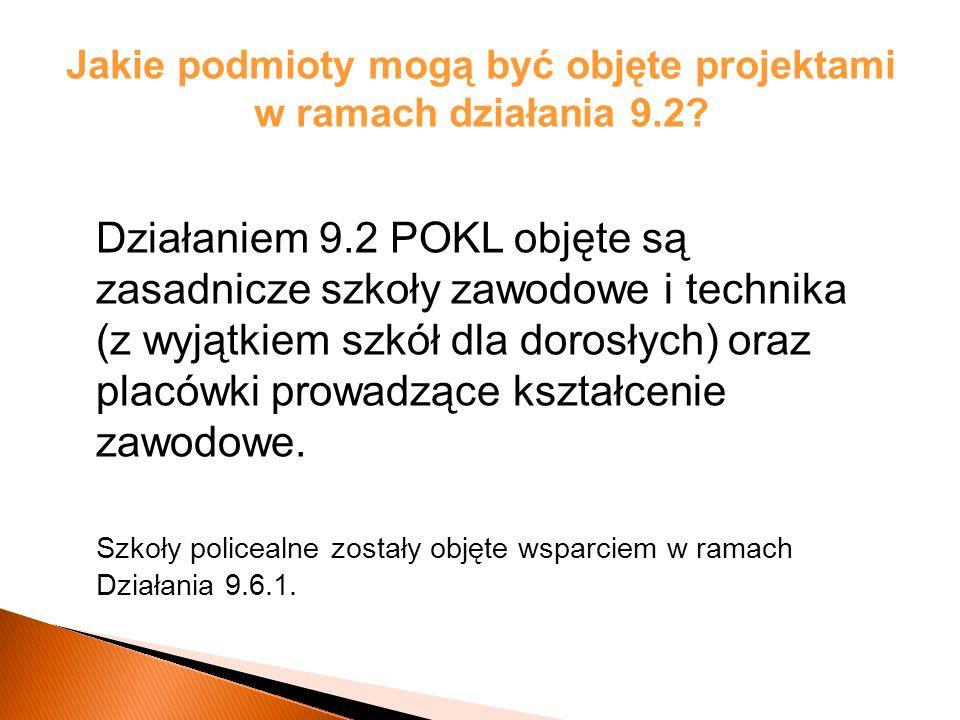 Efekty Działania 9.2 w województwie podlaskim: Wartości wskaźników osiągnięte w ramach realizacji Działania 9.2 na koniec okresu sprawozdawczego (31 grudnia 2011r):