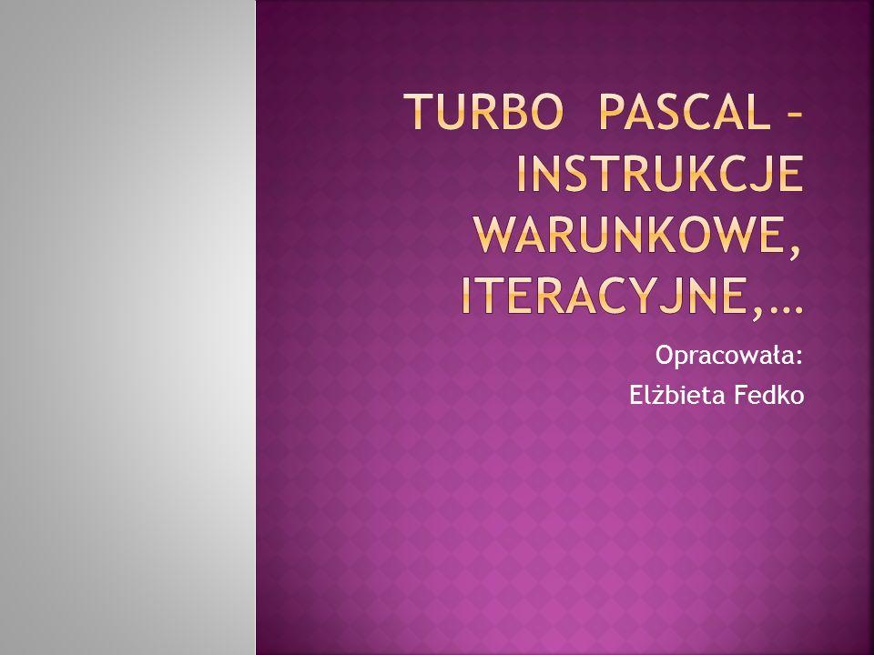 Opracowała: Elżbieta Fedko