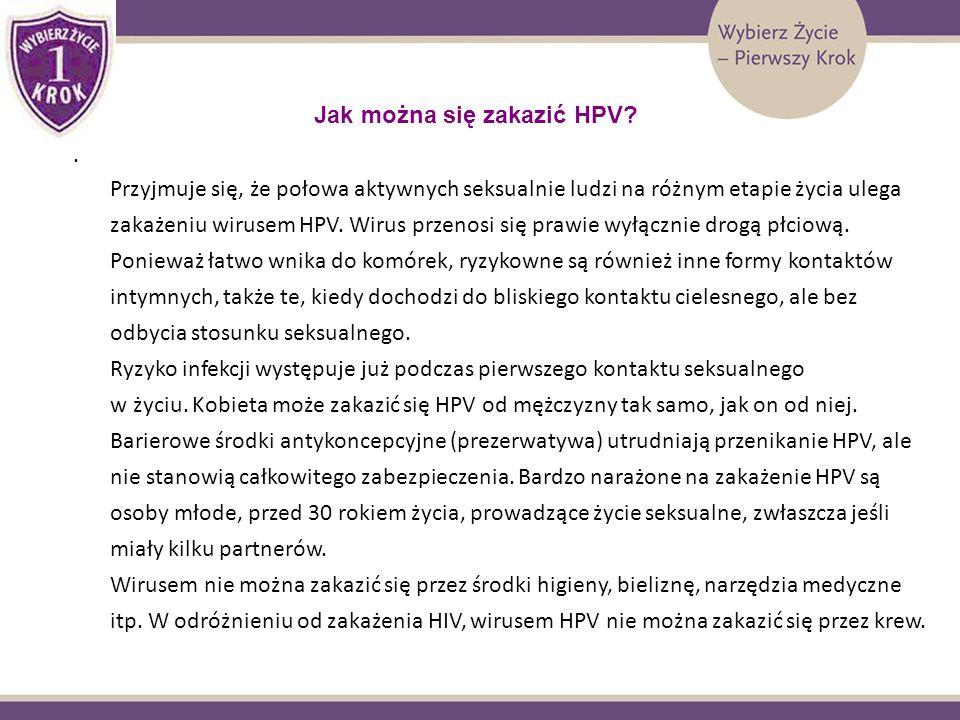 Jak można się zakazić HPV? Przyjmuje się, że połowa aktywnych seksualnie ludzi na różnym etapie życia ulega zakażeniu wirusem HPV. Wirus przenosi się