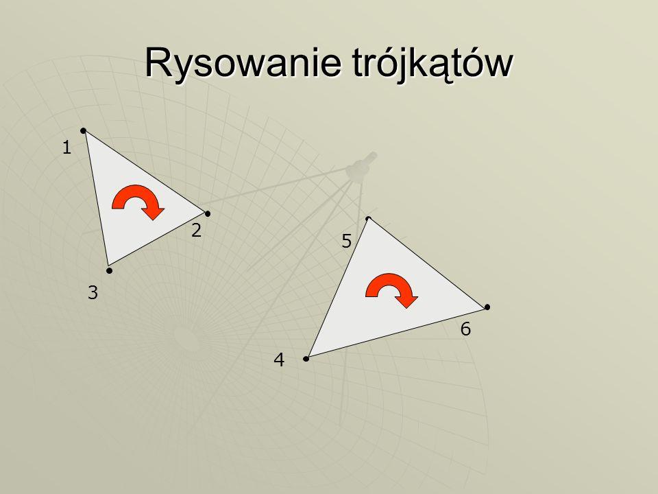 Rysowanie trójkątów 1 2 3 4 5 6