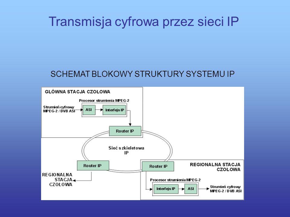 Transmisja cyfrowa przez sieci IP Korzyści wynikające z transmisji programów telewizji cyfrowej z wykorzystaniem protokołu IP to przede wszystkim: moż