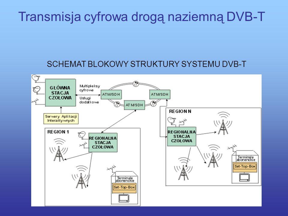 Transmisja cyfrowa drogą naziemną DVB-T Wykorzystanie transmisji cyfrowej DVB-T, która może być uruchomiona z wykorzystaniem istniejącej infrastruktur