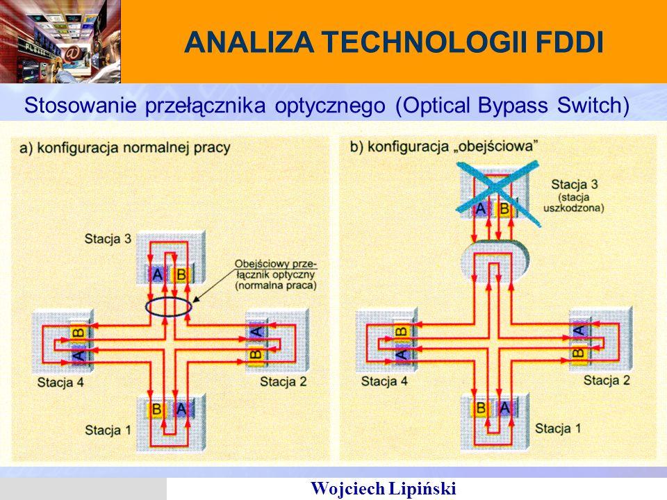 Wojciech Lipiński Stosowanie przełącznika optycznego (Optical Bypass Switch) ANALIZA TECHNOLOGII FDDI