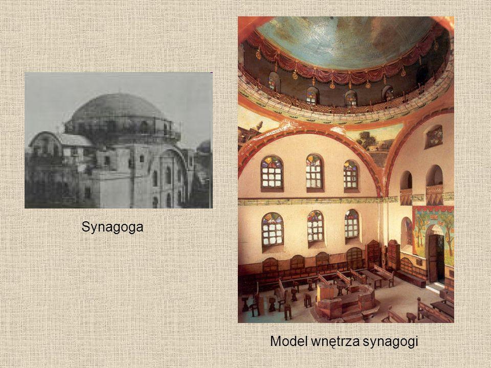Model wnętrza synagogi