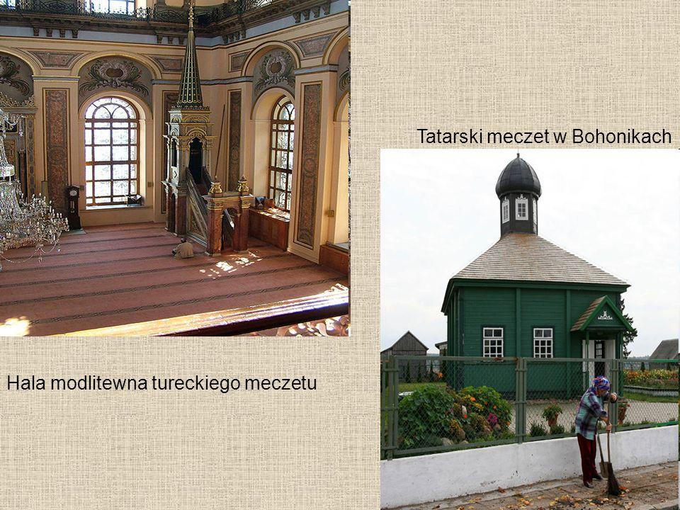 Hala modlitewna tureckiego meczetu Tatarski meczet w Bohonikach