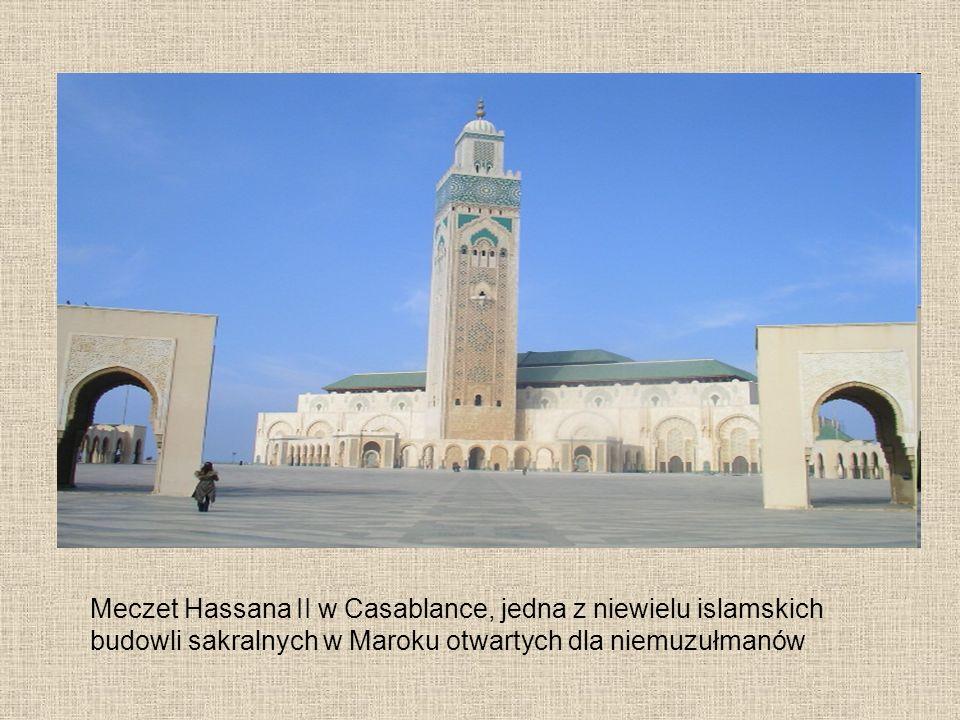 Meczet Hassana II w Casablance, jedna z niewielu islamskich budowli sakralnych w Maroku otwartych dla niemuzułmanów