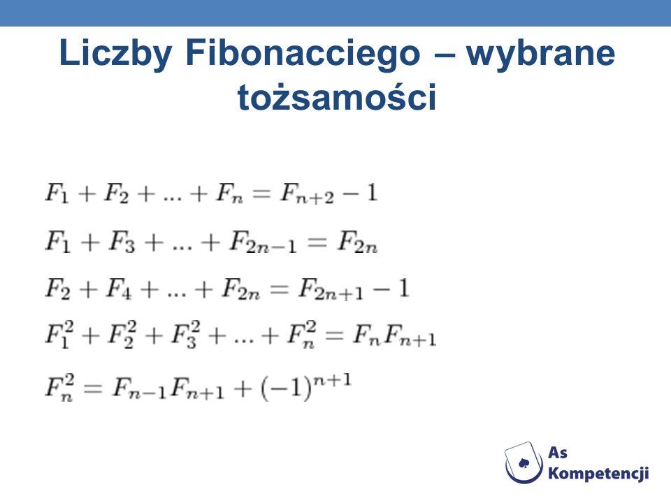 Liczby Fibonacciego – wybrane tożsamości