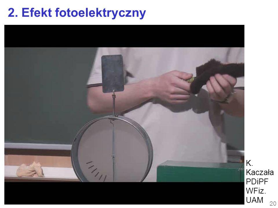 20 2. Efekt fotoelektryczny K. Kaczała PDiPF WFiz. UAM