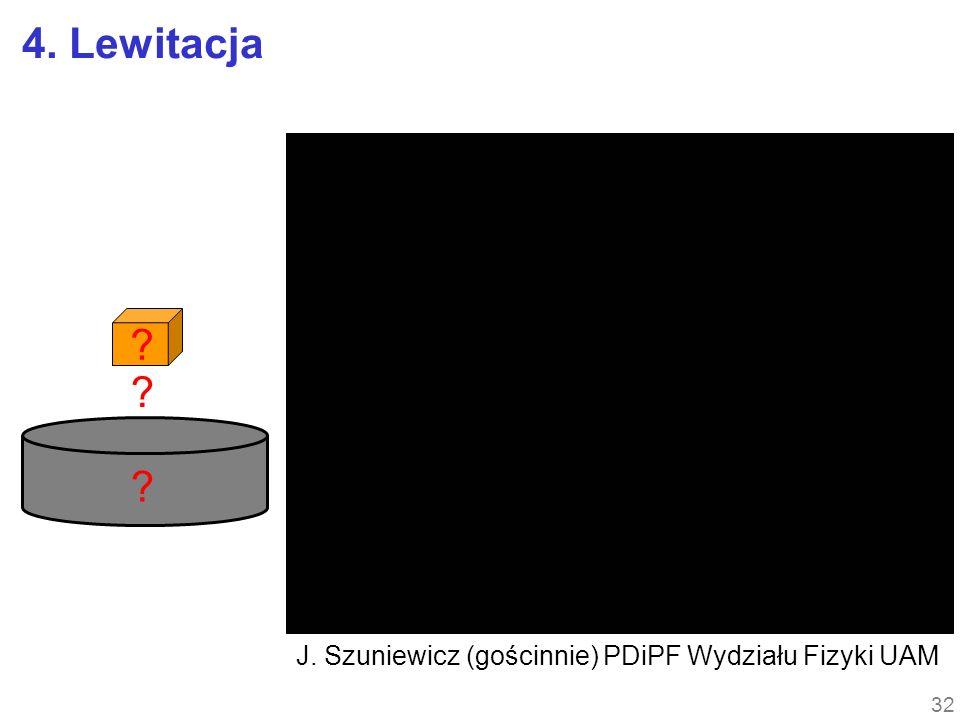 4. Lewitacja ? ? ? 32 J. Szuniewicz (gościnnie) PDiPF Wydziału Fizyki UAM