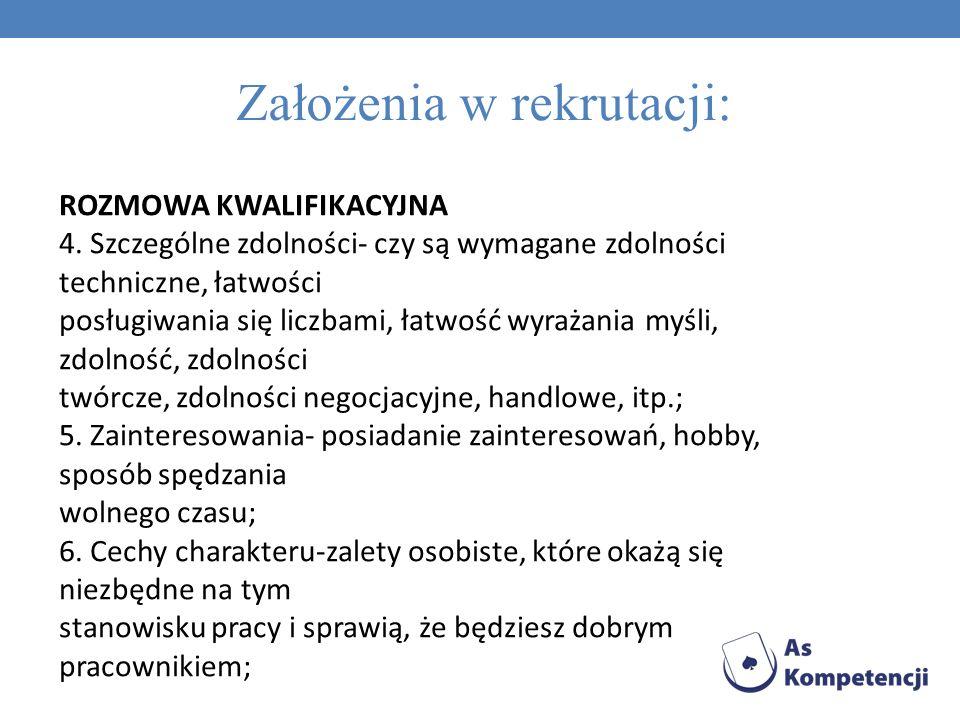 ROZMOWA KWALIFIKACYJNA 7.