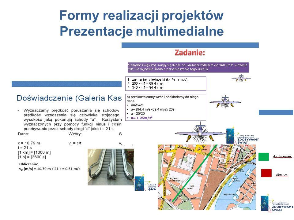 Formy realizacji projektów Prezentacje multimedialne