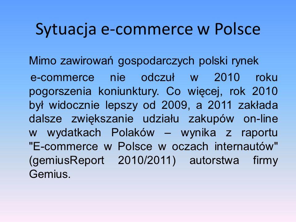 Bibliografia: 1.Badanie polskich sklepów internetowych, Internet Standard, wrzesień 2010r.