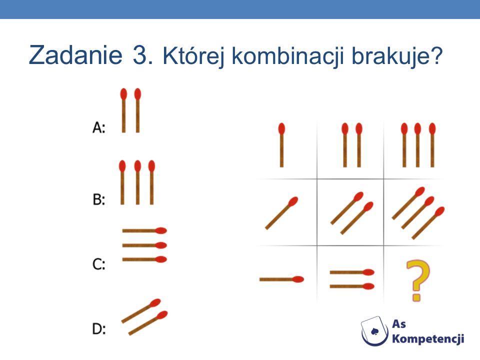Zadanie 3. Której kombinacji brakuje?