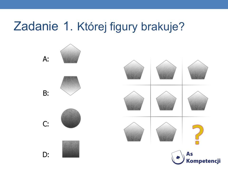 Zadanie 1. Której figury brakuje?