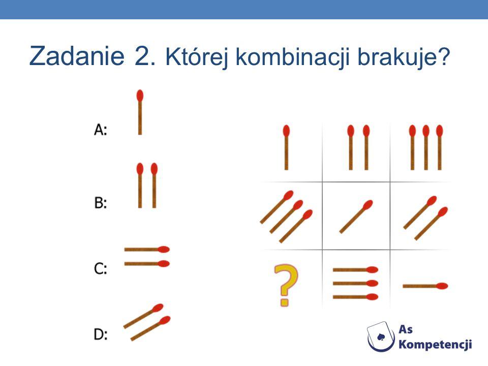 Zadanie 2. Której kombinacji brakuje?
