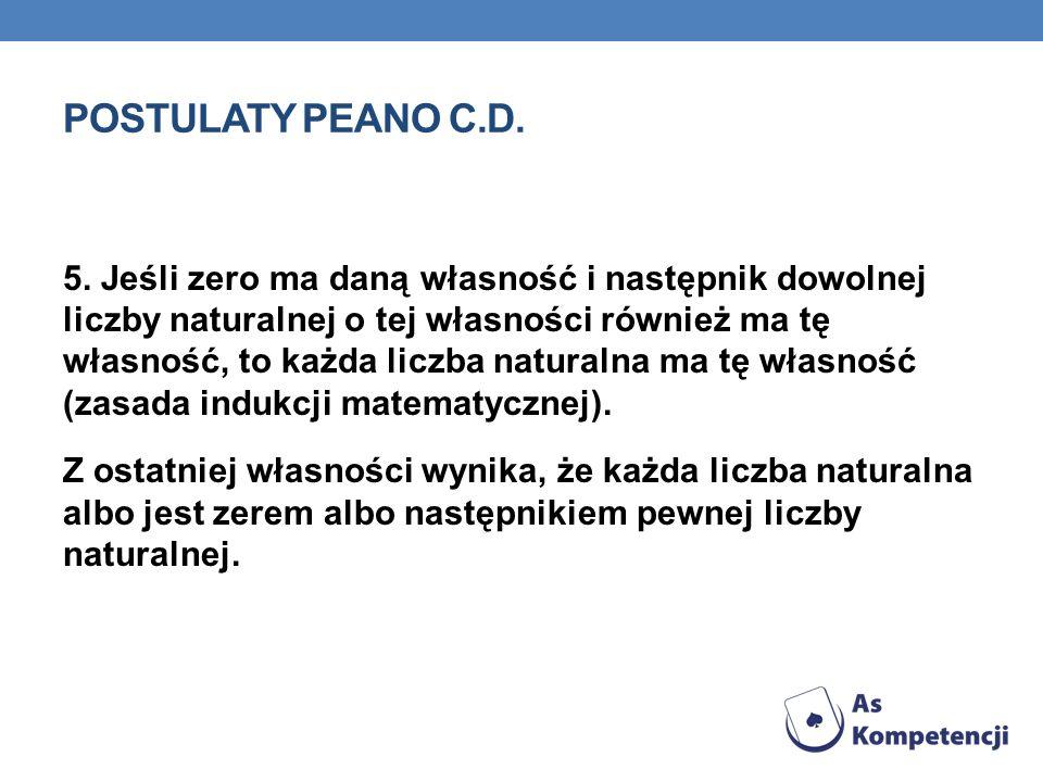 POSTULATY PEANO C.D.5.