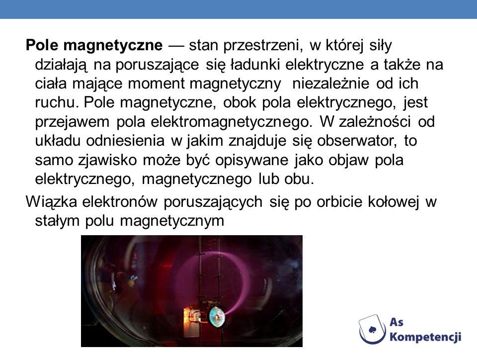 Pole magnetyczne stan przestrzeni, w której siły działają na poruszające się ładunki elektryczne a także na ciała mające moment magnetyczny niezależni