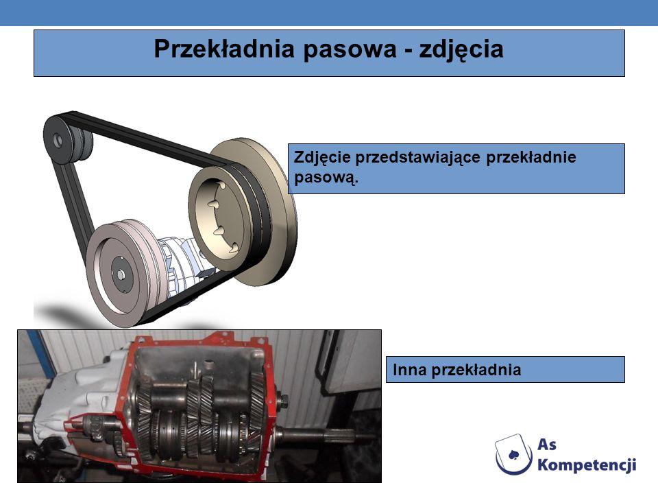 Przekładnia pasowa - zdjęcia Zdjęcie przedstawiające przekładnie pasową. Inna przekładnia