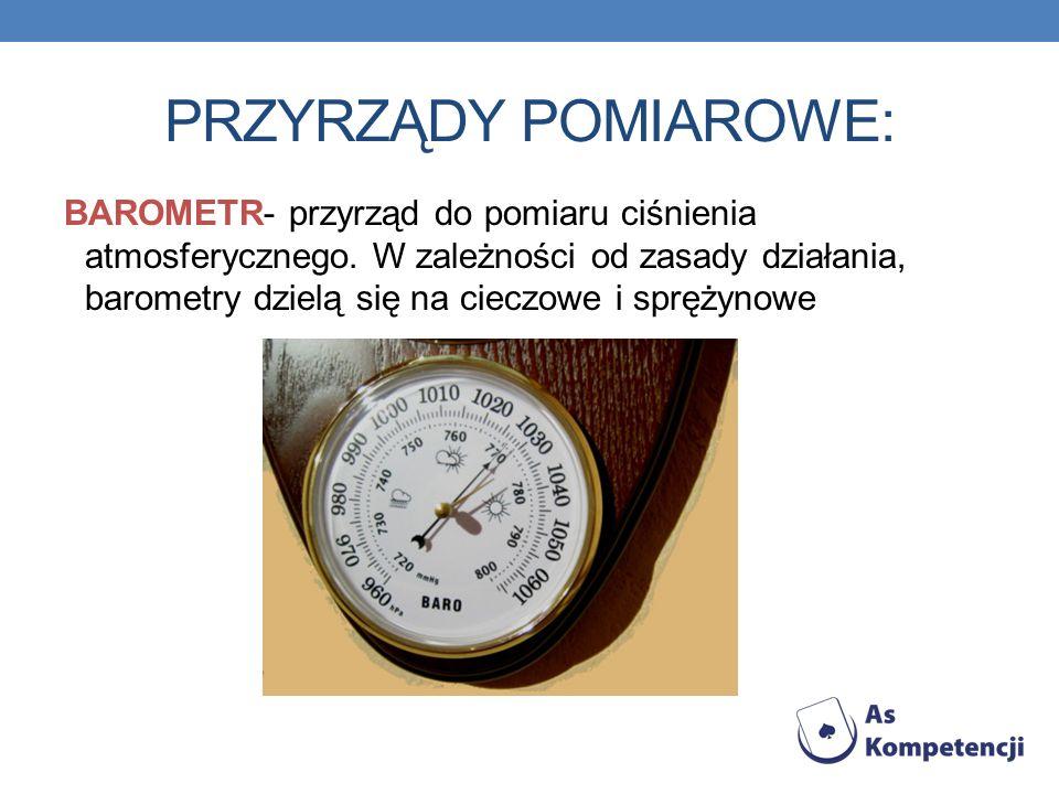 MANOMETR- przyrząd służący do wyznaczania ciśnienia.