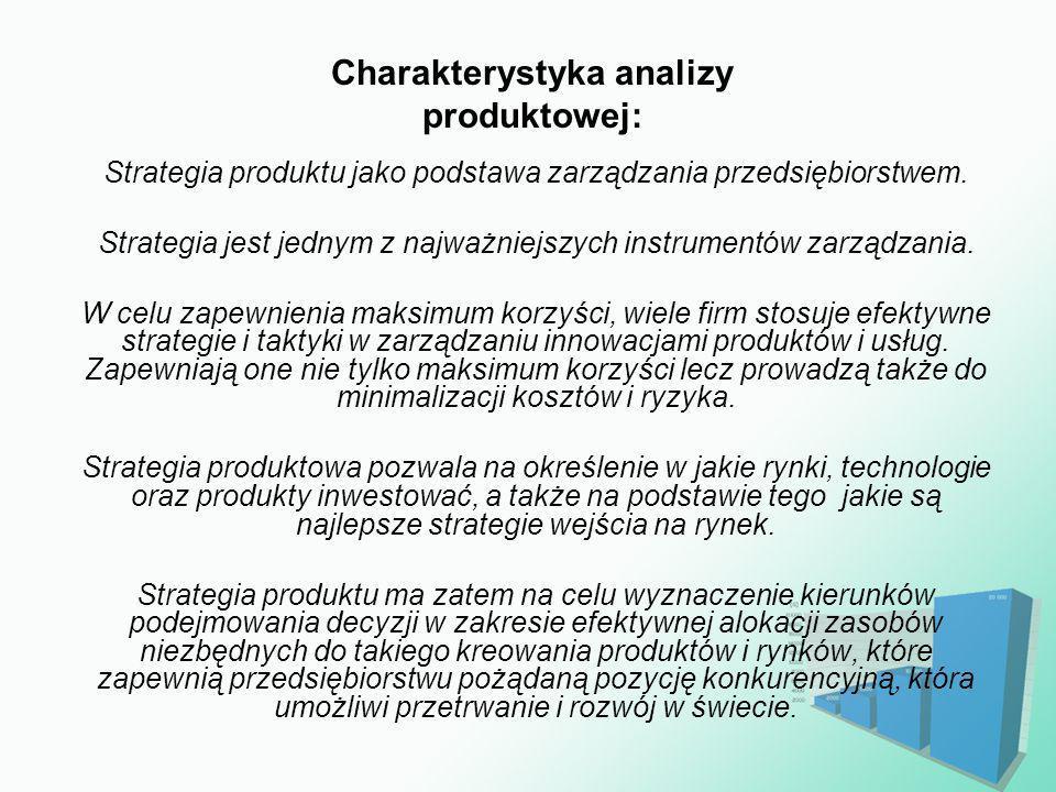 Charakterystyka analizy produktowej: Strategia produktu jako podstawa zarządzania przedsiębiorstwem. Strategia jest jednym z najważniejszych instrumen