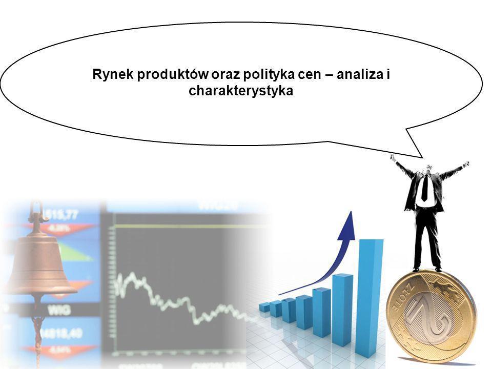 Do prowadzenia skutecznej polityki cenowej niezbędne są informacje dotyczące Kosztów zmiennych wyrobów oraz stałych przedsiębiorstwa Cen rynkowych Dolnych granic cen Kosztów i sytuacji rynkowej przedsiębiorstw konkurencyjnych Ogólnej kondycji finansowej przedsiębiorstwa Struktury produkcji pod względem rentowności (wyroby mocne, wyroby słabe)