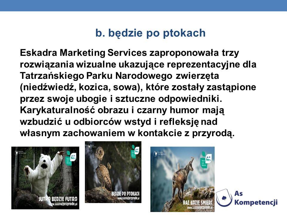 b. będzie po ptokach Eskadra Marketing Services zaproponowała trzy rozwiązania wizualne ukazujące reprezentacyjne dla Tatrzańskiego Parku Narodowego z
