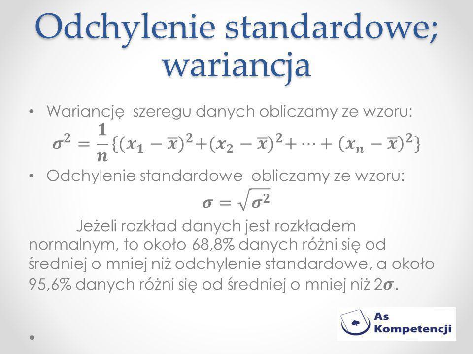 Odchylenie standardowe; wariancja