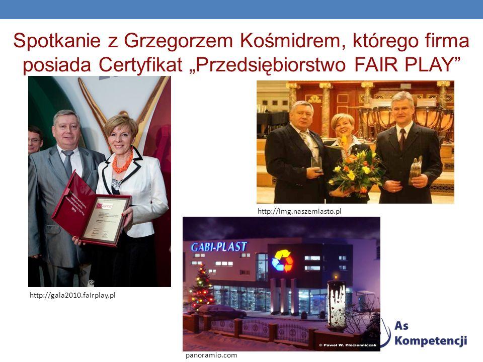 Spotkanie z Grzegorzem Kośmidrem, którego firma posiada Certyfikat Przedsiębiorstwo FAIR PLAY http://gala2010.fairplay.pl http://img.naszemiasto.pl pa