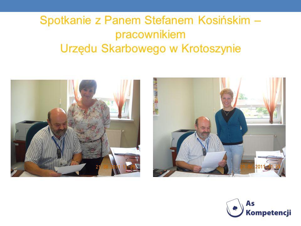 Spotkanie z Panem Stefanem Kosińskim – pracownikiem Urzędu Skarbowego w Krotoszynie
