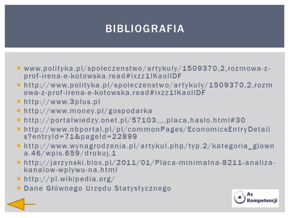 www.polityka.pl/spoleczenstwo/artykuly/1509370,2,rozmowa-z- prof-irena-e-kotowska.read#ixzz1lKaollDF http://www.polityka.pl/spoleczenstwo/artykuly/150